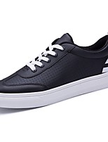 Men's Shoes PU Spring Fall Light Soles Sneakers Lace-up For Casual Red Black White