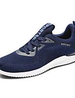 Da uomo Scarpe Tessuto Autunno Comoda Suole leggere Sneakers Lacci Per Casual Nero Grigio Rosso Blu