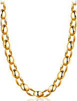Men's Choker Necklaces Jewelry Geometric Gold Plated Fashion Jewelry For Gift Daily