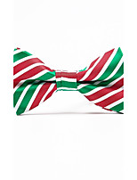 Men's Polyester Bow Tie,Striped Striped All Seasons