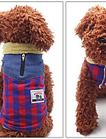 Dog Vest Dog Clothes Casual/Daily Plaid/Check Red Yellow