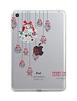 Недорогие -Назначение iPad (2017) Чехлы панели Прозрачный С узором Задняя крышка Кейс для Прозрачный Рождество Мягкий Термопластик для Apple iPad