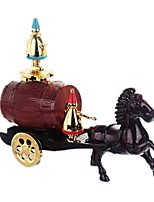 Music Box Holiday Decorations Toy Cars Toys Carriage Horse Plastics Pieces Unisex Gift
