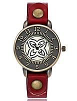 Жен. Модные часы Наручные часы Уникальный творческий часы Китайский Кварцевый Кожа Группа Винтаж С подвесками Повседневная Элегантные часы