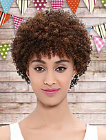 Women Synthetic Wig Capless Short Curly Auburn African American Wig Natural Wigs Costume Wig