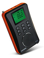 DE26 Radio portatile Lettore MP3 Scheda TFWorld ReceiverNero