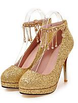 Femme Chaussures Paillette Brillante Printemps Automne Confort Nouveauté Chaussures de mariage Talon Aiguille Bout pointu Rivet Pour