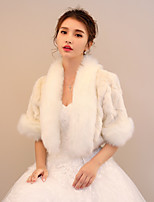 Women's Wrap Shrugs Faux Fur Wedding Party/ Evening Pattern / Print Feathers / fur