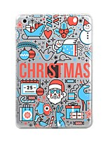 cheap -For iPad (2017) iPad 10.5 iPad Pro 12.9'' Case Cover Transparent Pattern Back Cover Case Christmas Soft TPU for Apple iPad pro 10.5 iPad