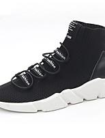 Da donna Scarpe Cashmere Primavera Autunno Comoda Sneakers Piatto Punta tonda Lacci Per Casual Nero