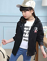 Girls' Embroidered Jacket & Coat,PU Fall Winter Long Sleeve