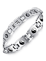 Men's Women's Chain Bracelet Punk Rock Titanium Steel Circle Jewelry For Party Gift