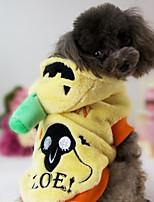 Cachorro Fantasias Roupas para Cães Dia Das Bruxas Abóbora Amarelo