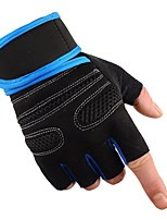 Sports Gloves Unisex Cycling Gloves Spring Summer Bike Gloves Skidproof Protective Sweat-Wicking Durable Fingerless Gloves Cloth Nylon