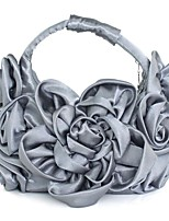 Women Bags All Seasons Silk Tote Appliques for Shopping Casual Gray