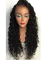Donna Parrucche di capelli umani con retina Brasiliano Cappelli veri Lace integrale Senza colla e con tulle integrale 130% Densità Taglio