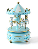 Music Box Toys Horse Carousel Plastics Wooden 1 Pieces Not Specified Birthday Gift