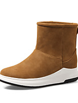 Women's Shoes Nubuck leather Leatherette Fall Winter Snow Boots Boots Flat Heel Round Toe Booties/Ankle Boots Split Joint For Casual Dress