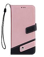 baratos -Capinha Para Apple iPhone X iPhone 8 Porta-Cartão Carteira Com Suporte Flip Capa Proteção Completa Côr Sólida Rígida PU Leather para