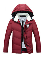 Men's Padded Coat,Simple Street chic Active Sports Plus Size Going out Casual/Daily Color Block-Cotton Polyester Polyester Polypropylene