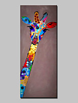 Hand-Painted Animal Vertical,Abstract Modern One Panel Canvas Oil Painting For Home Decoration