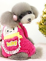 Dog Clothes/Jumpsuit Dog Clothes Casual/Daily Cartoon Blue Fuchsia