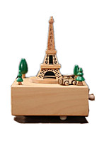 Music Box Toys Square Famous buildings House Horse Carousel Wooden Wood 1 Pieces Not Specified Birthday Gift