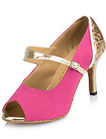 Damer Latin Glimtende Glitter Sandaler Hæle Sneaker Indendørs Pailletter Stilethæle Rosa Blå 7,9 - 9,5 cm Kan tilpasses