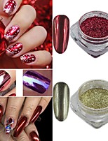0.15g/Bottle Christmas Nail Art Colorful Powder Shining Mirror Effect Nail Glitter Chrome Pigment Nail DIYDecoration