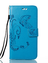 Недорогие -Кейс для Назначение Huawei Honor 4X / Huawei P9 / Huawei P9 Lite P10 / P9 Кошелек / Бумажник для карт / со стендом Чехол Бабочка / Цветы Твердый Кожа PU для P10 Plus / P10 Lite / P10 / Huawei P9 Plus