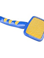 Cat Dog Cleaning Comb Massage Blue