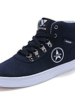 Men's Shoes PU Spring Fall Comfort Sneakers Lace-up For Casual Outdoor Brown Dark Blue Black