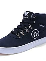 Для мужчин обувь Полиуретан Весна Осень Удобная обувь Кеды Шнуровка Назначение Повседневные Черный Темно-синий Коричневый
