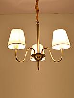 europa tre teste amercian classico lampadario a bracci in rame per il soggiorno / camera da letto / sala mensa / foyer lampada di lusso