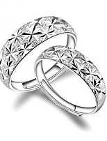 Couple's Couple Rings Classic Elegant Silver Plated Star Jewelry For Wedding Engagement