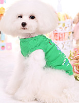 Dog Vest Dog Clothes Casual/Daily Sailor Blue Green