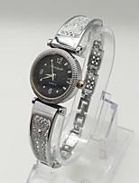 Жен. Модные часы Часы-браслет Повседневные часы Кварцевый сплав Группа Винтаж Повседневная Серебристый металл