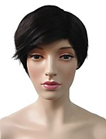Women Synthetic Wig Capless Short Straight Black Party Wig Celebrity Wig Halloween Wig Natural Wigs Costume Wig
