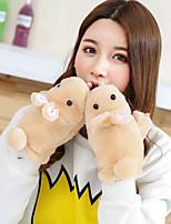 Women's Wool Cotton Wrist Length Half Finger,Casual Cartoon Winter Gloves Keep Warm Lovely Fashion Solid Fall Winter