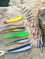 21 pcs Shad Grub Soft Jerkbaits Soft Bait Lure Packs g/Ounce mm inch,Plastic Sea Fishing Bait Casting Ice Fishing Spinning Jigging