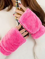 Women's Wool Wrist Length Half Finger,Pure Accessories Casual Winter Gloves Keep Warm Fashion Solid Winter