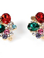 Women's Stud Earrings Drop Earrings Rhinestone Fashion Luxury Rhinestone Jewelry For Wedding Party