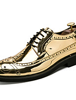 Men's Shoes Patent Leather Fall Winter Formal Shoes Oxfords For Casual Party & Evening Silver Black Gold