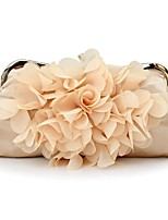 Women Bags All Seasons Silk Evening Bag Appliques for Wedding Event/Party White Black Red Beige Purple