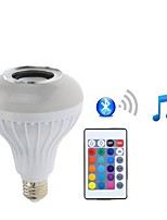 7W E27 LED Smart Bulbs PAR30 26 SMD 5050 500 lm RGB+White 2200-6500 K Bluetooth Dimmable Remote-Controlled Decorative AC85-265 V 1 Piece