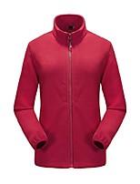 Women's Hiking Fleece Jacket Anti-Slip Anatomic Design Breathability UV resistant Full Length Visible Zipper Fleece Jacket for Camping /