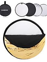 andoer 24 60cm disco 5 in 1 (argento bianco nero traslucido nero) fotocamera pieghevole multifunzione fotografica studio riflettore foto