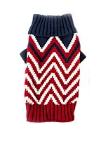 Cat Dog Sweater Dog Clothes Casual/Daily Keep Warm Sports Color Block Green Red