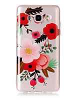For Case Cover IMD Transparent Pattern Back Cover Case Flower Soft TPU for Samsung Galaxy J7 (2016) J7 (2017) J5 (2016) J5 (2017) J3 J3