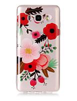 Coque Pour Samsung Galaxy J7 (2017) J3 (2017) IMD Transparente Motif Coque Arrière Fleur Flexible TPU pour J7 (2016) J7 (2017) J5 (2017)